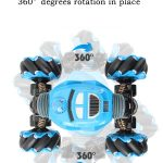360° degrees rotation in place