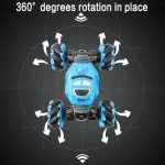 360° degrees rotation in place 2